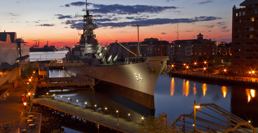 The USS Wisconsin: Naval Station Norfolk, Virginia, U.S.A.