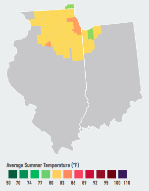 On our current emissions path, residents of Chicago will see the average number of days over 95°F per year likely double to quadruple within the next 5 to 25 years. As a result, the Windy City will likely see among the biggest increases in violent crime due to hotter weather of any metropolitan area studied, among other impacts. Data Source: American Climate Prospectus.
